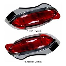 1951 Ford Complete Tail Light Assemblies Pair
