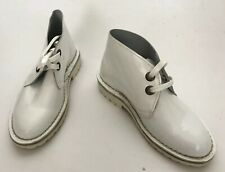 Edun Safari Women Shoes Size 6 New White Patent Leather Boots