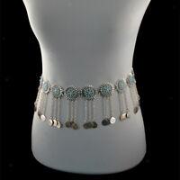 Elegant Coin Fringe Tassel Chain Belt Tribal Belly Dance Festival Jewelry