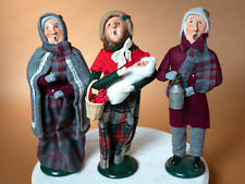 Lot of 3 Retired Byers Choice Carolers From 1980s