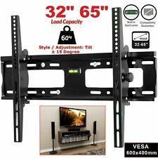 TV Tilt Wall Mount Bracket For 32 37 40 45 47 50 55 60 65 Inch LCD LED Plasma UK