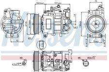Nissens | Kompressor, Klimaanlage 2-polig (89415) für AUDI A4 Allroad B8 B7 A6