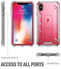 Poetic Revolution【Kick-Stand】Rugged Case For Apple iPhone XS Max (6.5-inch) Pink
