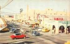 Tijuana Mexico Main Street Curio Shops Coca Cola Sign Antique Postcard K96659