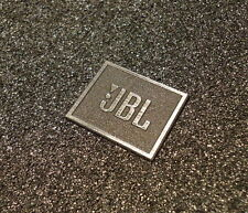 JBL Logo Emblem Badge brushed silver metallic color adhesive 28 x 23 mm [239]