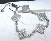 schweres armband aus tibetsilber elementen - wunderschön