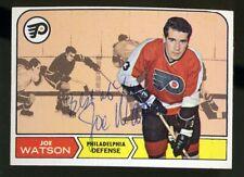 1968-69 Topps #90 JOE WATSON Autograph/Auto Card Philadelphia Flyers