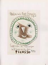 """1989 VINTAGE  """"PICASSO - CERAMIQUES"""" CERAMICS MOURLOT Color offset Lithograph"""