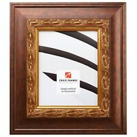 "Craig Frames Gotham, 3.5"" Ornate Gold and Bronze Picture Frame"