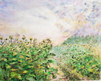 Malerei.Original Kunstwerk-Ohne Rahmen. Aquarell/Tusche auf Papier.35x45cm