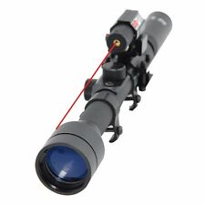 Tactical Combo 3-7X28 Airsoft Red Dot Laser Sight Optical Scope w/ 20mm Rail