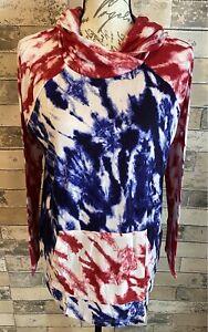 NEW RELEASE LuLaRoe Amber Hoodie Nwt Large L Beautiful Tie Dye Print Nwt