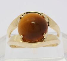 Ring in aus 8 kt 333 Gelb Gold mit Tigerauge Goldring Edelsteinring Gelbgoldring