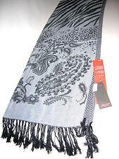 Großer Schal Soft Viscose ca. 70 x 190cm Grau Zebra  Neu OVP