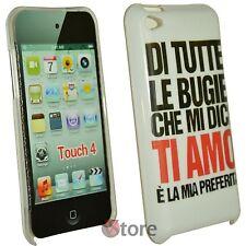 Cover Custodia Per iPod Touch 4 4G Bugie Ti Amo + Pellicola Proteggi Schermo