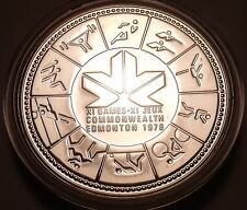 Gem Unc 1978 Silver Speciman Dollar~IX Commonwealth Games Edmonton~Free Shipping