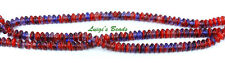 50 Cobalt Ruby Czech Pressed Rondell Spacer Glass Beads 5mm