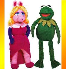 "Adorabile 15"" Kermit & 19"" miss piggy giocattoli bambole. a Maglia Knitting Pattern 12"