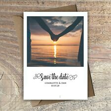 Personalised Photo Save the Date Cards with envelopes packs of 10
