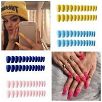 Full Cover Pure Color Fingernail False Nails Nail Art Patch Manicure Tips