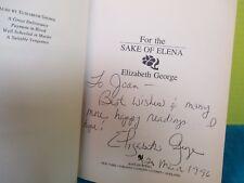 Elizabeth George RARE SIGNED ADVANCE COPY of FOR THE SAKE OF ELENA Bantam 1992