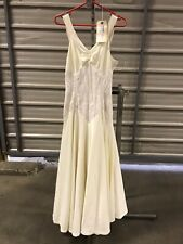 ex hire fancydress costumes - 1940s Long Cream Dress With Lace Waist Size Small