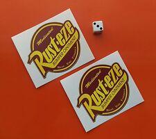 """RUST-EZE Bumper Sticker Decal approx 3.5"""" x2 BUMPER OINTMENT"""