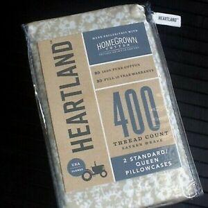 SWEET FLORAL Heartland 400 TC 100% HomeGrown Cotton Sateen STANDARD Pillowcases