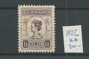 Suriname 102C  Wilhelmina  MNH/postfris CV 200 €