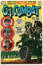 GI Combat 138 FN- 5.5 DC 1969 Silver Age Haunted Tank First Losers