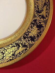 Cobalt And Gold Rosenthal Dinner Plate