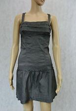 **SUPRE** EUC Dark Grey Peasant Dress S 10 Breasted