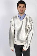 Vintage Tommy Hilfiger V Neck Golf Jumper Sweater Casual 90s Top XL Cream IL1086