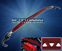 For 01-2005 Honda Civic Lx Dx Ex Front Upper Aluminum Strut Tower Bar Brace Red
