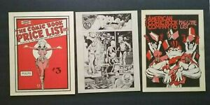 "GROUP LOT OF 3 ""AMERICAN COMIC BOOK COMPANY"" CATALOGS PULPS, MAGAZINES, COMICS"