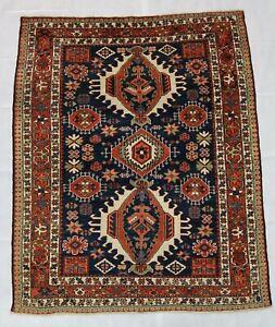 Beautiful old antique decorative Heriz Karaja rug 6x4,9 ft