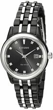 Citizen Eco-Drive Women's EW2398-58E Diamond Hour Markers Black 28mm Watch