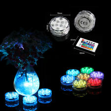 4x Remote Control LED Multi color Submersible Party Vase Base Light Waterproof