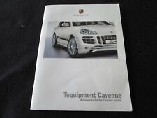 2008 Porsche Cayenne, S, & Turbo Tequipment Catalog Accessory Equipment Brochure