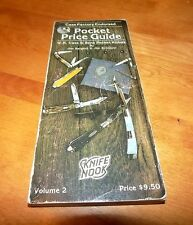 W.R. CASE & SONS KNIVES VOLUME 2 POCKET PRICE GUIDE Collector Knives Knife Book