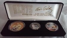 Elvis Presley Life & Times Elvis75 Birthday 2010 Colorized US State Coins 3 pc