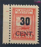 Memelgebiet 196 postfrisch 1923 Aushilfsausgabe (8731668