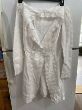 Vintage Edwardian Victorian White Cotton Embroidered Overdress