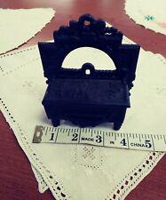 Vintage Black Cast Iron Match Safe Holder by Iron Art Lb-19