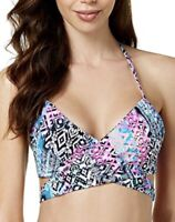 NWT $44 Sundazed Simone Halter Wrap Underwire Bikini Swim Top Bra Size 36C