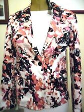 Cotton Casual Floral Regular Size Coats & Jackets for Women