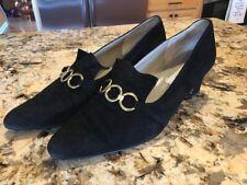 3e2ef6d7d981 Saks Fifth Avenue Fenton Last Women s Black Suede Heels Shoes 10M