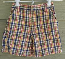 Gymboree Rain Forest Boys 3 Vintage Primary Color PLAID SHORTS Cargo Pocket