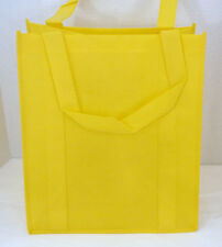 Reusable GROCERY BAG - BRIGHT LEMON YELLOW - Large Size Recyclable Shopping Tote
