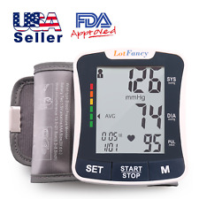 Wrist Blood Pressure Monitor BP Cuff Machine Home Test LCD Automatic Digital US